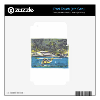 Seaplane to San Juan Is. Skin For iPod Touch 4G