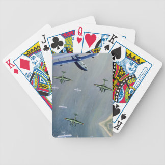 Seaplanes, 1933 (oil on canvas) bicycle playing cards
