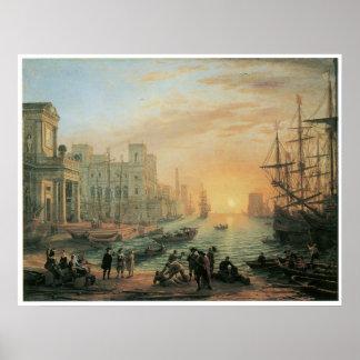 Seaport at Sunset, 1639 Print