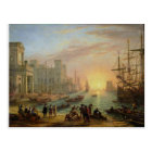 Seaport at Sunset by Claude Lorrain Postcard