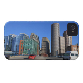 Seaport Blvd bridge and Boston skyline.Boston is iPhone 4 Cover
