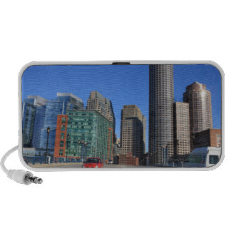 Seaport Blvd bridge and Boston skyline.Boston is Portable Speaker