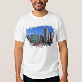 Seaport Blvd bridge and Boston skyline.Boston is T-shirt