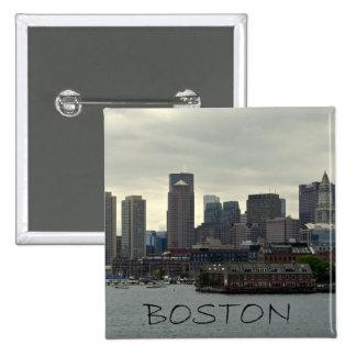 SEAPORT OF BOSTON HARBOR 2 INCH SQUARE BUTTON