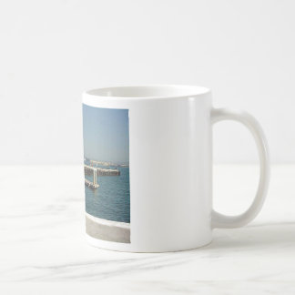 Seaport Village Aircraft Carriers Pier Water Bay D Classic White Coffee Mug