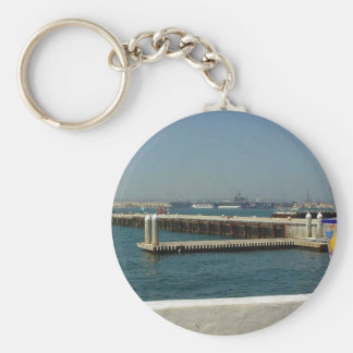 Seaport Village Aircraft Carriers Pier Water Bay D Keychains