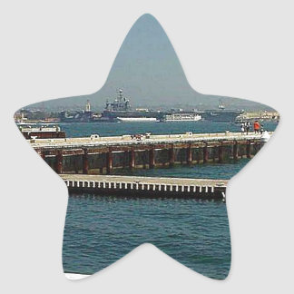 Seaport Village Aircraft Carriers Pier Water Bay D Star Sticker