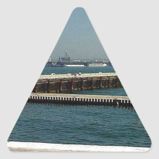 Seaport Village Aircraft Carriers Pier Water Bay D Triangle Sticker
