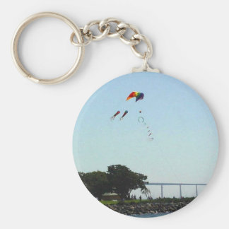 Seaport Village Kite Trees Coranado Bridge Water B Keychain
