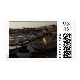 Seaport with fishing boats - Tartus, Syria Stamp