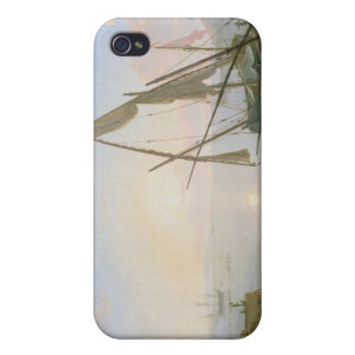 Seaport with sunset case for iPhone 4