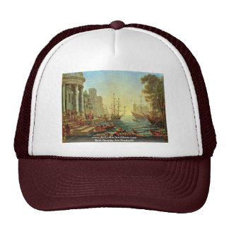 Seaport With The Embarkation Of Saint Ursula Mesh Hat