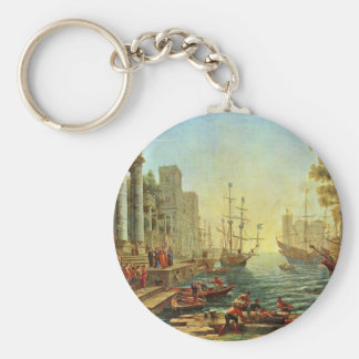 Seaport With The Embarkation Of Saint Ursula Keychain