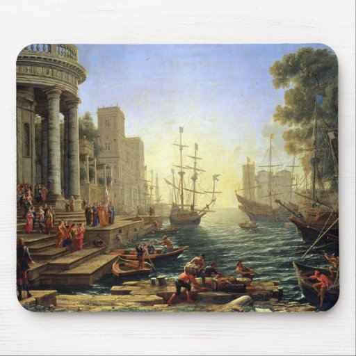 Seaport with the Embarkation of St. Ursula Mouse Pad
