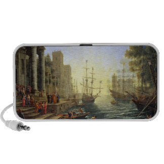 Seaport with the Embarkation of St. Ursula Portable Speaker
