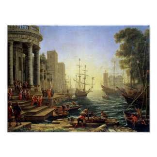 Seaport with the Embarkation of St. Ursula Poster