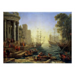 Seaport with the Embarkation of St. Ursula Print