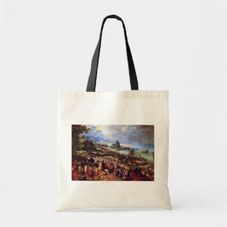 Seaport With The Preaching Of Christ By Bruegel D. Canvas Bags