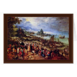 Seaport With The Preaching Of Christ By Bruegel D. Greeting Card