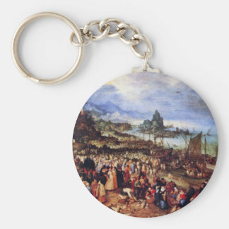 Seaport With The Preaching Of Christ By Bruegel D. Key Chain