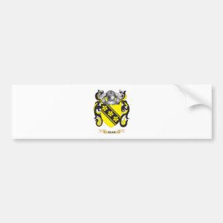 Sear Coat of Arms (Family Crest) Car Bumper Sticker