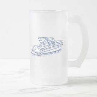 SeaRay Amberjack 290 Frosted Glass Beer Mug