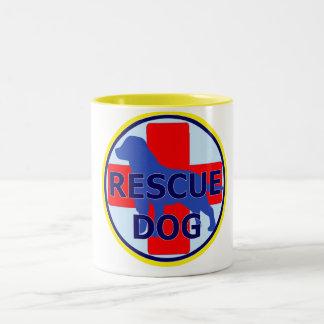 SEARCH AND RECUE DOG SARDA Two-Tone COFFEE MUG