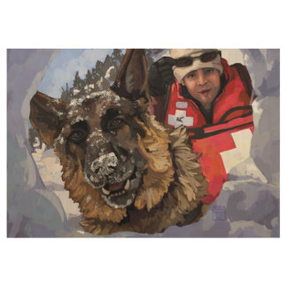 Search and Rescue Art Wood Poster