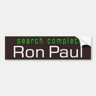 Search Complete Car Bumper Sticker