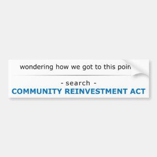 Search CRA For Answers Bumper Sticker
