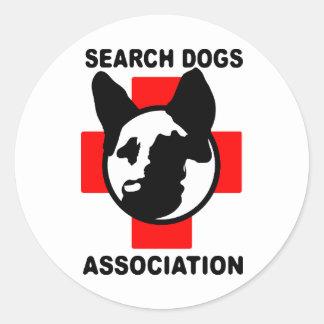SEARCH DOG ASSOCIATION CLASSIC ROUND STICKER