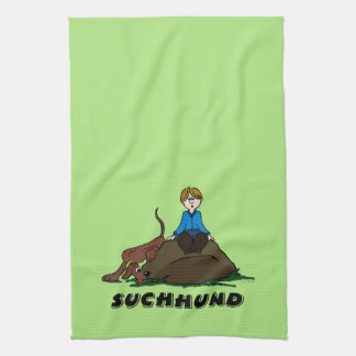 Search dog kitchen towel