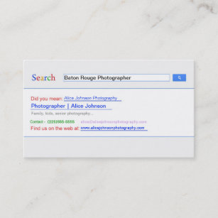 Search Engine Business Cards Zazzle