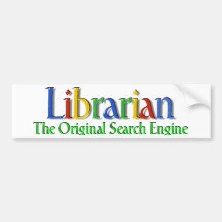 Search Engine de la original del bibliotecario Pegatina De Parachoque