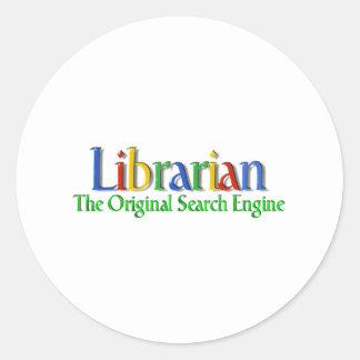 Search Engine de la original del bibliotecario Pegatina Redonda