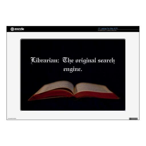 Search Engine del bibliotecario 38,1cm Portátil Calcomanía