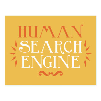 Search Engine humano Tarjeta Postal