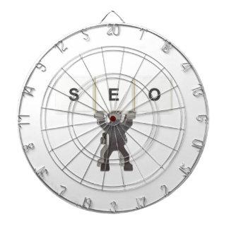 Search Engine Optimization Dartboard With Darts