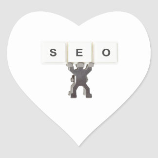 Search Engine Optimization Heart Sticker