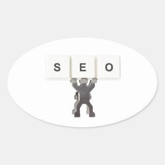 Search Engine Optimization Oval Sticker