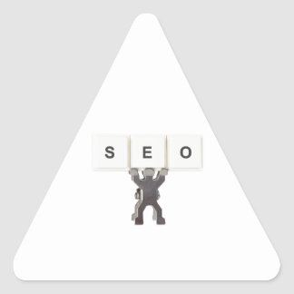 Search Engine Optimization Triangle Sticker