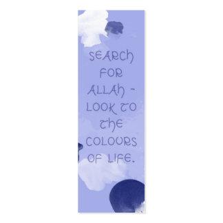 Search for Allah Islamic bookmark Mini Business Card
