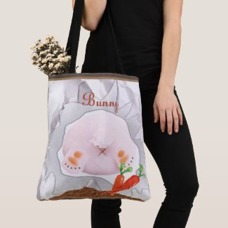 Search for Happiness Bunny Personalized Tote
