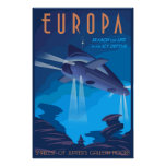 Search for Life on Jupiter's moon Europa Poster
