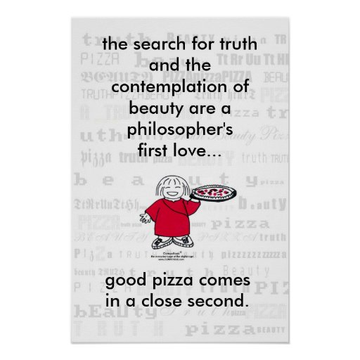 SEARCH FOR TRUTH & PIZZA! Poster