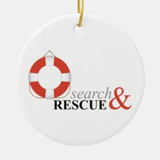 Search & Rescue Ceramic Ornament