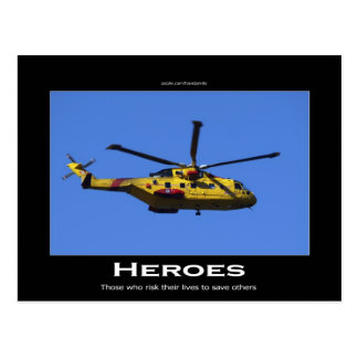 Search & Rescue Helicopter Motivational Postcard