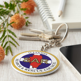 Search & Rescue image for Button-Key-Ring Keychain