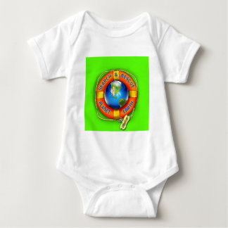 Search & Rescue--Planet Earth! Flag Baby Bodysuit