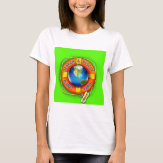 Search & Rescue--Planet Earth! Flag T-Shirt